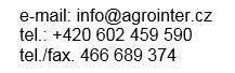 Agrointer - kontakt na web